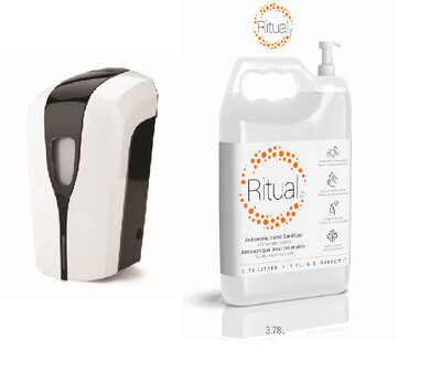 Touchless Sanitizer Dispenser and Sanitizer (1 Gallon)