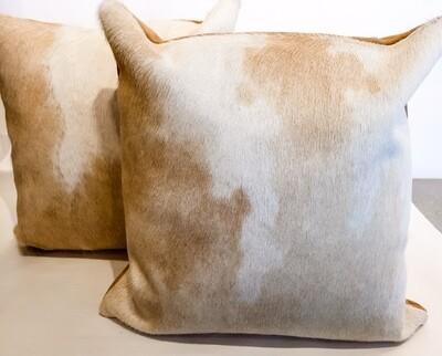 BS002 Cream Cowhide Pillows 16