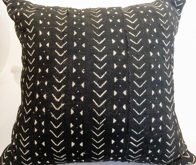 EN013 Black Mudcloth Pillow 21