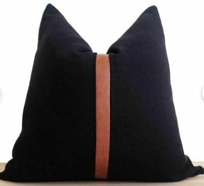 "CB012 Pillow - Black 19"" x 19"""
