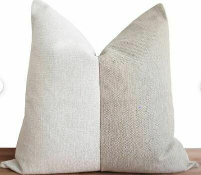 """CB005 Pillow - White/Oatmeal 23"""" x 23"""""""