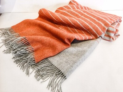 AP109 Orange Ombre Alpaca Throw