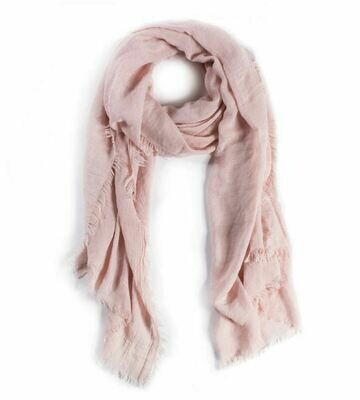 PM227 Pink Lightweight Frayed Scarf