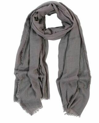 PM254 Gauze Scarf - Light Gray