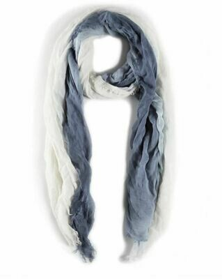 PM245 Blue and White Ombre Scarf