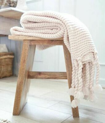 PM251 Nubby Throw with Tassels  - Blush