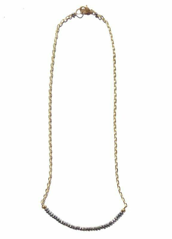 CD029 Pyrite Bar Chain