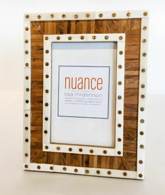 """SH275 Mansour Two-Tone Picture Frame 4"""" x 6"""""""