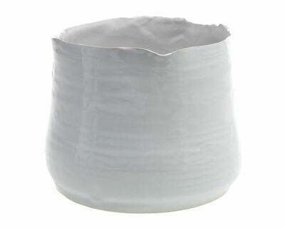 AR126 Tegan Pot White LG 7.25 x 5.5