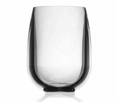 SY001 Clear Acrylic Stemless Wineglass