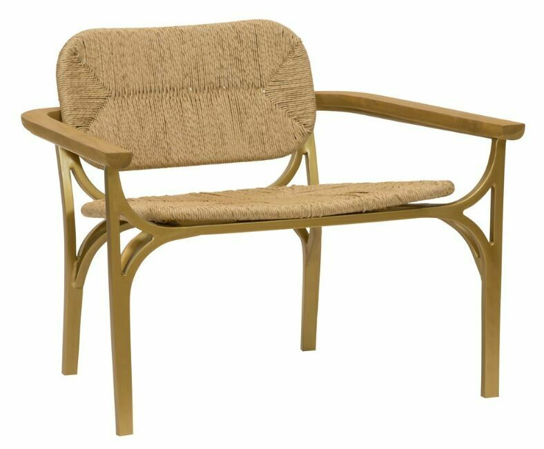 STT005 Rope and Brass Lounge Chair