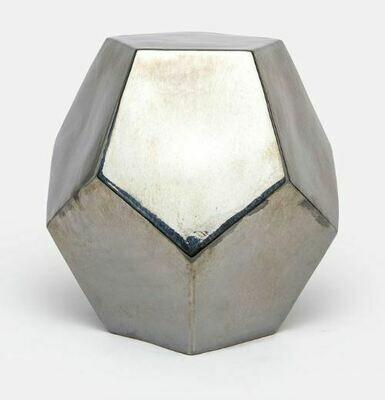 MG008 Gold Crackled Hexagonal Stool 19