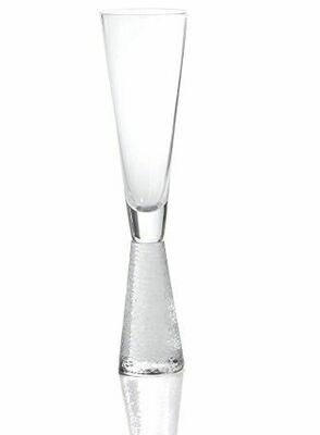 ZX002 Etched Stem Champagne Glass