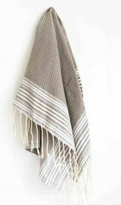 SL008 Guest Towel New Positive/Neg White/Beige Mink