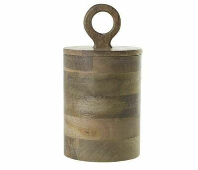 AR082 Mango Wood Canister 5.75