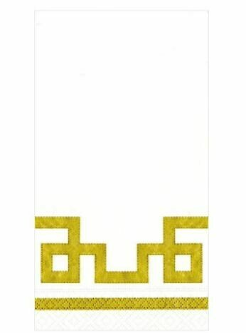 CR006 RIVE GAUCHE-GOLD AND WHITE - GUEST TOWEL