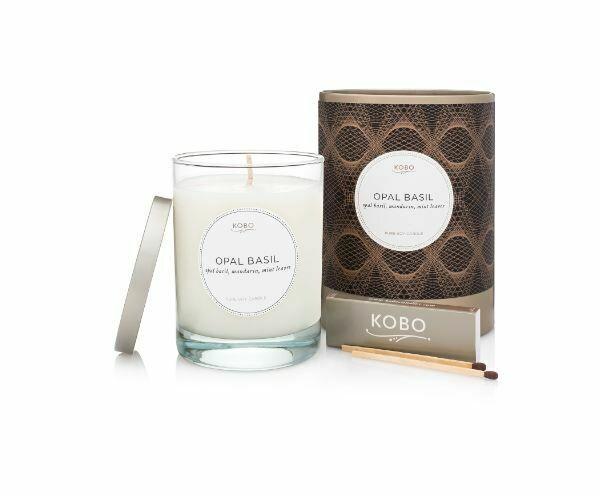 KO010 Opal Basil Candle