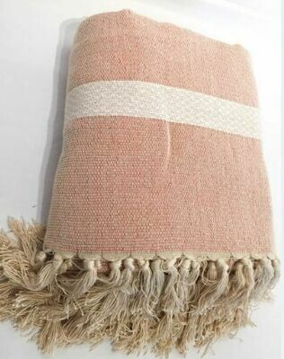 SL053 Bi-Color Throw - Nude