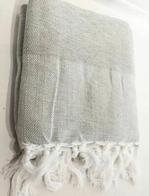 SL017 Herringbone Throw - Grey