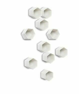 GL112 White Hexagon Wall Decor-Set of 20