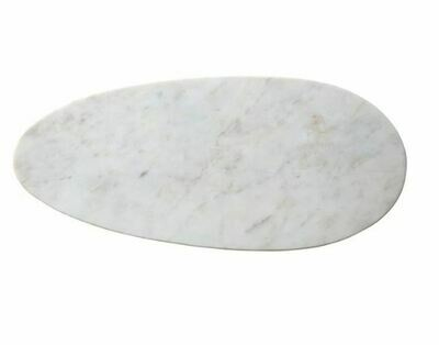 CC148 Marble Oval Cheese Board White - Small