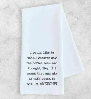 DE010 I Would Like To Thank Tea Towel