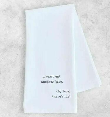 DE004 I Can't Eat Another Bite Tea Towel