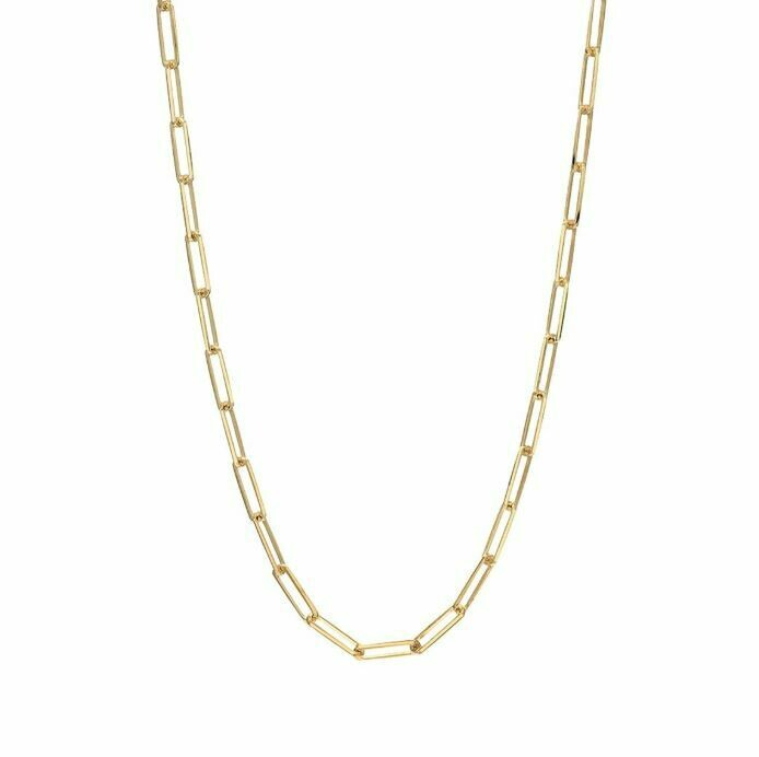 TD465 Gold Oblong Vermeil Necklace - 20""