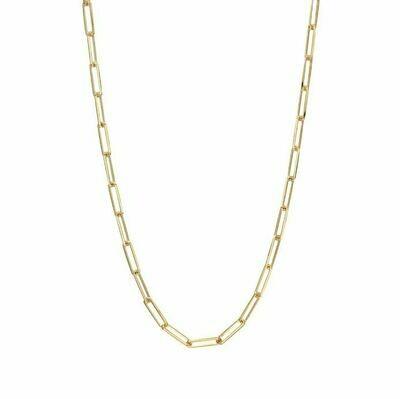 TD465 Gold Oblong Vermeil Necklace - 20