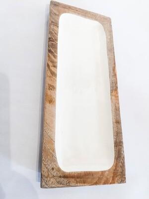 BV114 Enameled Mango Wood Tray - Small