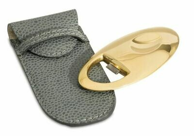 GS078 Gilded Bottle Opener in leather pouch