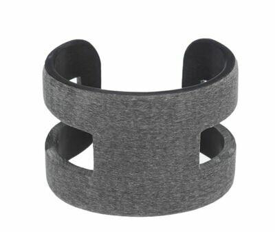 VO008 Bufallo Horn Cuff - Dark Grey
