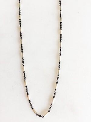TD466 Blackened Sterling Bead Chain - 18