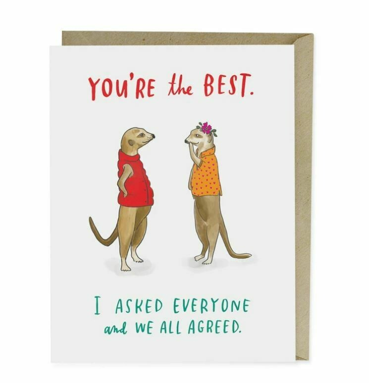 EM001 You're the Best Thank you Card