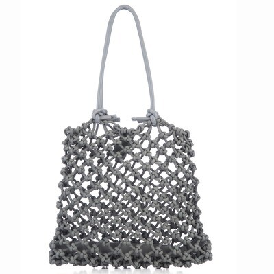 Knotted Tote in Grey