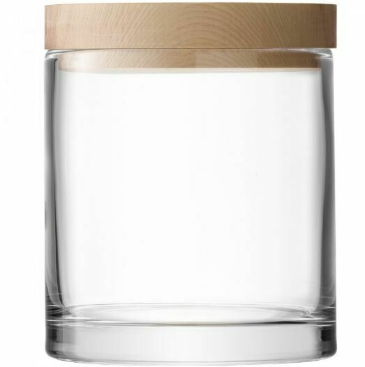 "LS005 Glass Container w/ Ash Top 5.5"" - Clear"