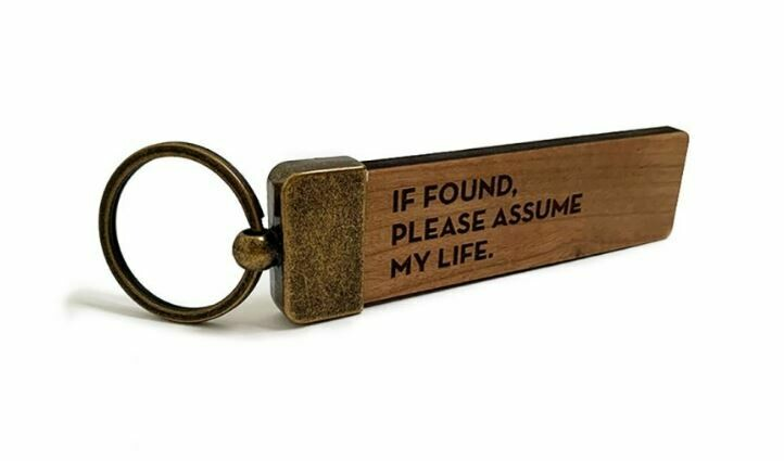 SG084 Assume Life Key Tag