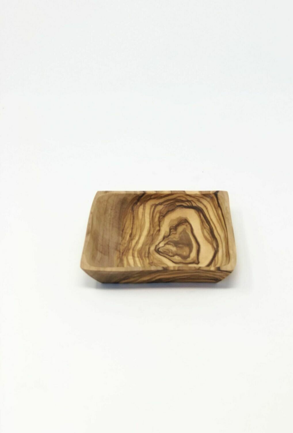 SL040 Square Olive Wood  Dish 4""