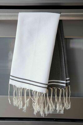 SL108 Guest Towel Split Color -Black/White