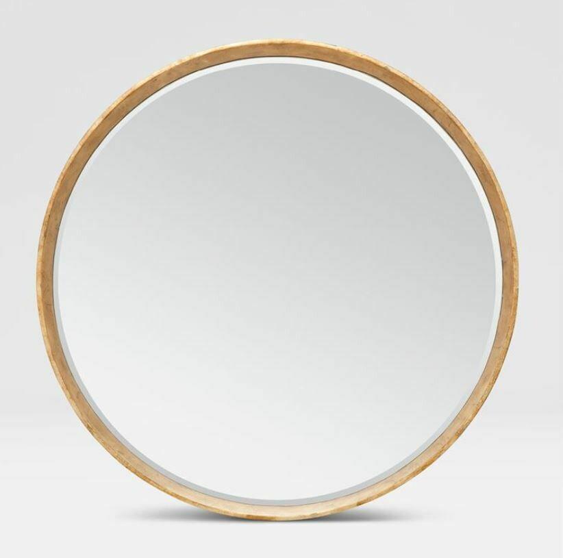 MG015 Round Gold Mirror