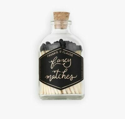 FC002 Small Charcoal Black Match jar