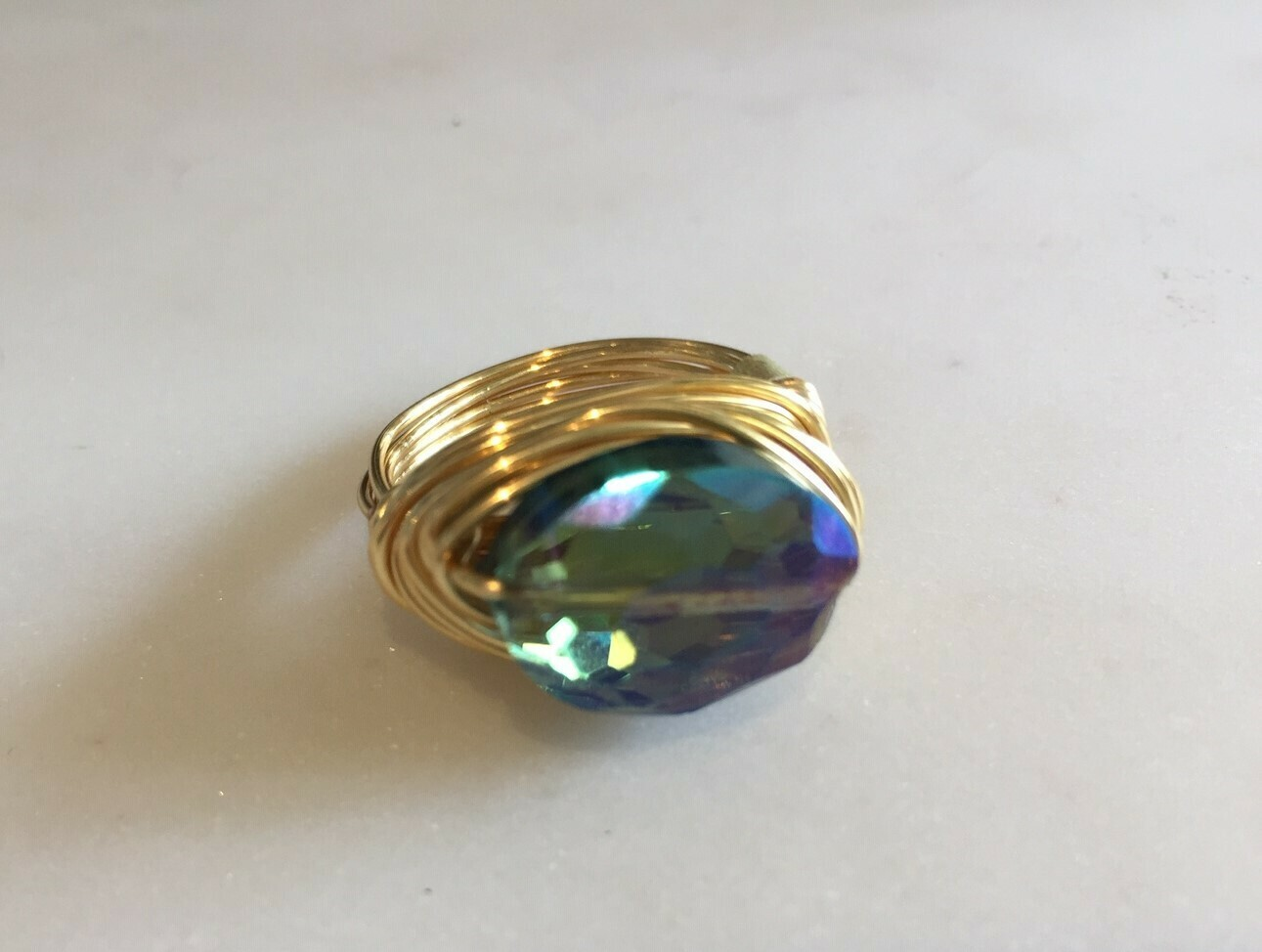 GR773 Enrite Iridescent Swarovski Ring GF