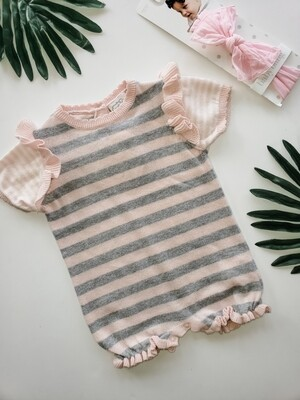 Pink and Gray Onesie