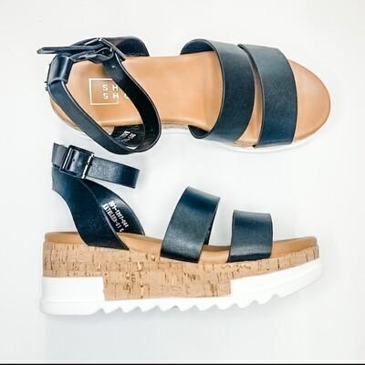 Shu Shop Black Wedge Sandal