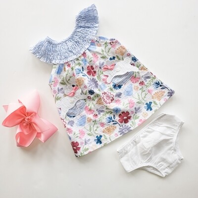 Mudpie Easter Bunny Dress Set