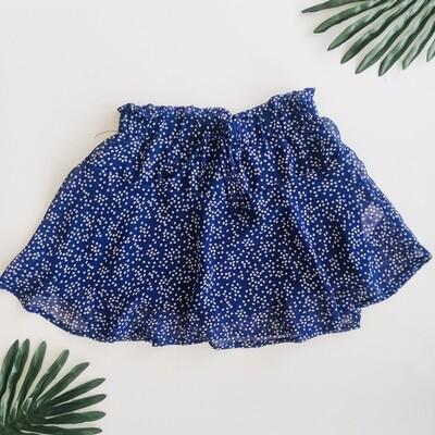 Sadie and Sage Blue Dot Skirt