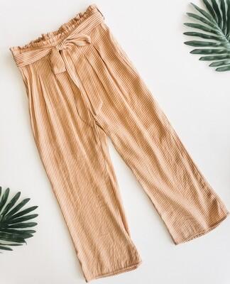Sadie and Sage Stripe Taupe Pants