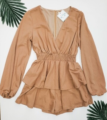 Listicle Tiered Skirt Romper