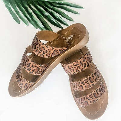 Corkys Leopard Slide