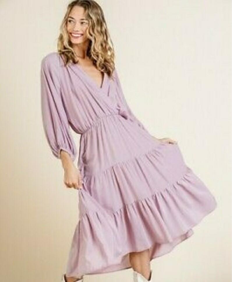 Umgee Purple Maxi Dress